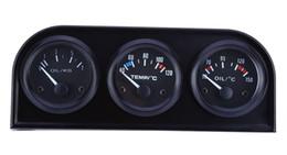 B735 52 MM 3 1 Araba Metre Otomatik Ölçer Su Sıcaklığı Yağ Basıncı Sensörü Üçlü Kiti 3 1 araba oto ölçer basit operasyon Ücretsiz Kargo