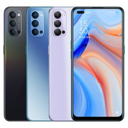 "Wholesale Original Oppo Reno 4 5G LTE Mobile Phone 8GB RAM 128GB 256GB ROM Snapdragon 765G Octa Core 6.4"" Full Screen 48.0MP Fingerprint ID Cell Phone"