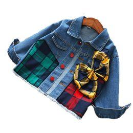 fe236c6c171 Весенняя детская дизайнерская одежда для девочек Джинсовая куртка Бутик для девочек  Детская одежда с длинным рукавом с мягким денимом Детская верхняя одежда ...