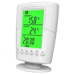 Programmable thermostats online shopping - TS Programmable Wireless Thermostat Socket White Lcd Home Intelligent Temperature Control Socket New Design UK Plug