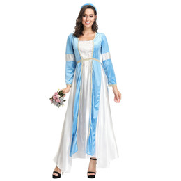 greek costumes Australia - Women Sexy Greek Goddess Roman Lady Egyptian Costume Cosplay Blue Jumpsuit Robe Fancy Dress for Female Adult Halloween Costumes