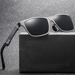Magnesium Coating Australia - BAOLANG Aluminum magnesium Sun Glasses Men's Classic Brand Design Polarized Coating Mirror Shades Sunglasses Male Oculos D6560