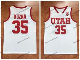 e998b261c0e Mens Kyle Kuzma Utah College Basketball Jerseys New White Cheap  35 Kyle  Kuzma Stitched Shirts S-XXL