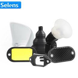 $enCountryForm.capitalKeyWord Australia - snoot light Selens Magnetic Flash Accessories Kit 7 Color Filters Honeycomb Grids Sphere Bounce Snoot Grip Lighting Modifier for Speedlite