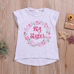 $enCountryForm.capitalKeyWord Australia - summer cool sleeveless letter flower tops t-shirt kids girls beach fashion clothing children toddler girl clothes 2-9T