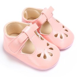 t girl shoes Australia - Infant Baby Girls Casual Sandals, Soft Hollow Out Bowknot Shoes Toddler Rubber Sole First Walking Shoes