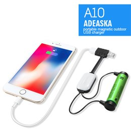 dhl battery power bank NZ - New ADEASKA A10 18650 Battery Charger for Li-ion Batteries Multifunction Magnetic USB Charger Mini Charging Discharging Power Bank DHL