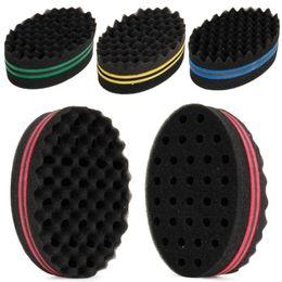 Hair Locking Tool Australia - 1Pcs Oval Double Sides Afro Wave Magic Hair Twist Braiders Dreads Twisting Locks Dreadlocks Curl Brush Sponge Tools