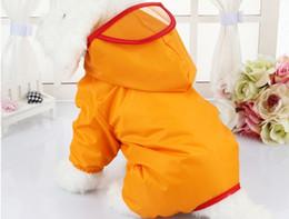 $enCountryForm.capitalKeyWord Australia - Dog Raincoat Teddy Coat Waterproof Poncho Bear Four-Legged Dog Clothes Raincoat Pet Clothes Single-layer cloth lined rubber raincoat with ho