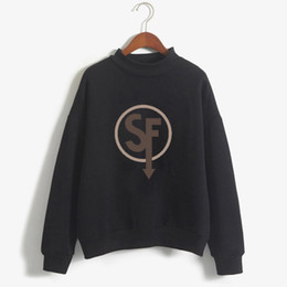 Chinese  Vogue Sally Face black Casual women Hoodies Kpop korean Clothes Brand Design Sweatshirts long sleeve tumblr Hoodie femme manufacturers