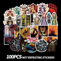 Discount stickers game thrones - 100pcs set Cartoon Stickers Game Of Thrones Graffiti Stickers TV Series For Luggage Car Laptop Notebook Decal Fridge Ska