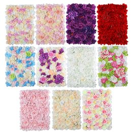 Discount fake window wall Artificial flower wedding background fake flowers shop window decoration rose hydrangea artificial flower wall wholesale