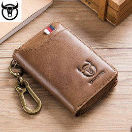 cat credit card Canada - Trendy Explosion Captain Cat Car Key Case Leather Men's Business Universal Door Lock Bag Soft Leather Multi-Card Convenient Coin Purse