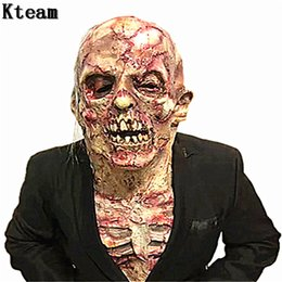$enCountryForm.capitalKeyWord Australia - Hot!!! New Halloween Terror Zombie Mask Cosplay Props Scary Adult Mask Latex Bloody Scary Extremely Disgusting Full Face Mask Costume