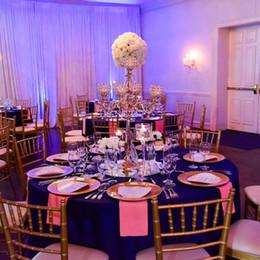$enCountryForm.capitalKeyWord Australia - 6pcs golden silver color 5 arms crystal candelabra table centerpieces candlesticks for wedding party decoration home decor candle holder