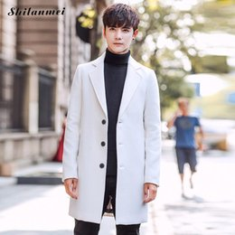 $enCountryForm.capitalKeyWord Australia - Winter Wool Jacket Mens Wool Coats Plus Size Men Coat 2019 Casual Slim Collar Coat Men'S Long Cotton Collar Trench Coats