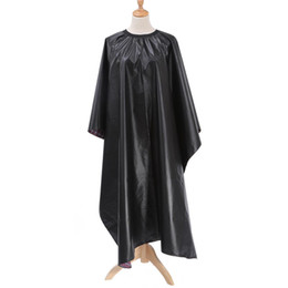 Salon Cloth Australia - Pro Salon Black Hairdressing Cape Barber Hairdresser Haircutting Dye Wrap Waterproof Cover Gown Apron Hairstylist Cloth