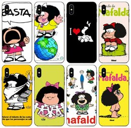 iphone 6s girl cases UK - [TongTrade] Painted Cartoon Mafalda Girl Case For Apple iPhone 11 Pro Max X Xs 8s 7s 6s 5 Galaxy M30 M30S M40 Huawei P10 HTC M9 Plus Case