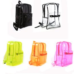 $enCountryForm.capitalKeyWord UK - New summer Clear Transparent PVC Shoulder Bags girls Candy Colorful Solid bags Large Capacity Bag gift for girls travel bags school
