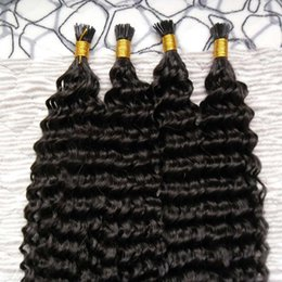 $enCountryForm.capitalKeyWord Australia - brazilian virgin hair 200g Curly Pre Bonded Hair Extensions I Tip Machine Made Remy kinky curly Human On Capsule Real Hair