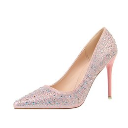 $enCountryForm.capitalKeyWord UK - 7 Colors 11 cm New Lady Dress Shoes Rhinestone Design Women Pointed Toe Super Stiletto Heels Sexy Party Red Wedding Shoes Women Pumps 2019