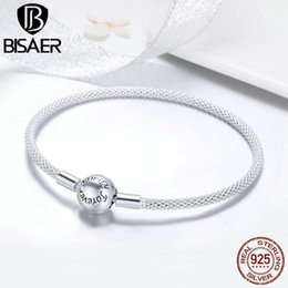 $enCountryForm.capitalKeyWord Australia - Bisaer Hot Sale 925 Sterling Silver Snake Chain Forever Love Round Clasp Women Bracelets Sterling Silver Jewelry Pulseira Ecb105 J190719