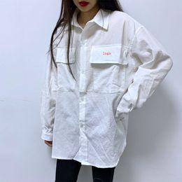 48049621 Womens White Linen Shirt NZ - Mens Womens Designer Shirts Fashion Loose  Brand Me Women Shirts