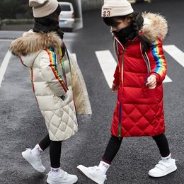 $enCountryForm.capitalKeyWord Australia - Winter Children Girls Down Jackets Thicken Fur Collar Hooded Child Down Coats Outerwear Overcoat Parkas 7-14 girl boys clothes