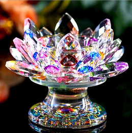 $enCountryForm.capitalKeyWord Australia - High-end Crystal Lotus Candle Holder Home Decoration Accessories A Variety of Colors Optional Romantic Wedding Candlestick