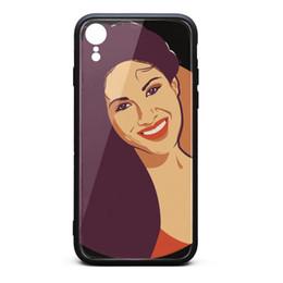 $enCountryForm.capitalKeyWord UK - IPhone XR Case Selena Quintanilla comic 9H Tempered Glass Cover TPU Bumper Shockproof Phone Case
