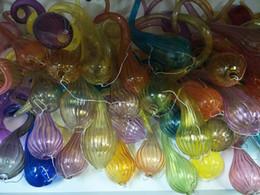 Chihuly estilo mão soprado lustres de vidro de vidro diy custom made lâmpadas pingente de vidro para decoração made in china em Promoção