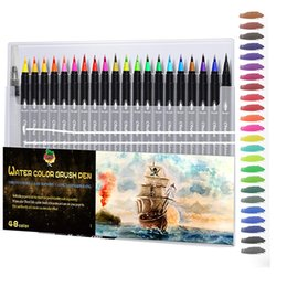flexible pens Canada - Water Color brush pens 72 Color With Flexible Brush Tip School Paiting Drawing Coloring Art Marker