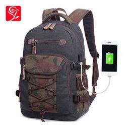 Back Packs For Men Australia - Canvas School Backpack For Boy Bagback Kids Back Pack Student Bookbag School Bags For Teenage Boys Men Big Travel Backpack