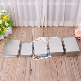 Tin Boxes Wholesale NZ - NEW Delicate Small Metal Tin Silver Storage Box Case Organizer For Money Coin Candy Key Organization Storage Box