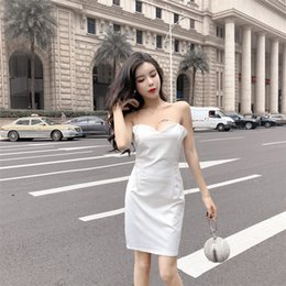 33a7b772e367 Club faCtory dresses online shopping - New nightclub sexy chain shoulder  strap strapless halter slim dress