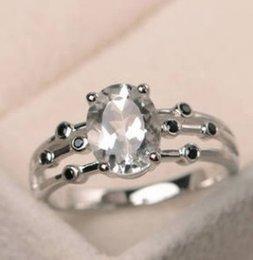 Großhandel 5pcs / lot wunderbare niedrige preisqualität diamant crysltal 925 dame ringgröße 6 --- 10 rtrff 6.6v