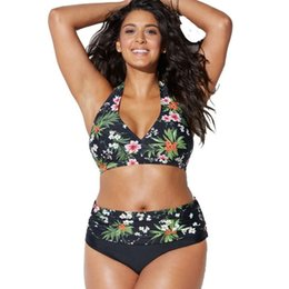 Plus Size Body Suits Australia - Bkning Plus Size Swimsuits Push Up Swimwear Women Halter Bathing Suit Large Big Monokini May Swimming Suits For Ladies Beachwear