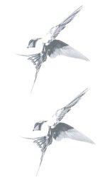 f7e84d397dcb0 Waterproof Temporary Fake Tattoo Stickers Grey Swallow Sketch Vintage  Design Body Art Make Up Tools