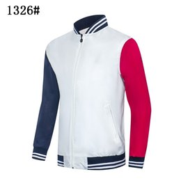 sport winter jackets UK - NEW JACKET Men Sportswear Black White Autumn Winter Jogger Sporting Men's Jackets