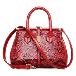 $enCountryForm.capitalKeyWord NZ - 2018 Chinese Style Fashion Embossed Leather Women Handbag Quality Leather Women Bag Vintage Shoulder Bag Ladies Totes Sac A Main