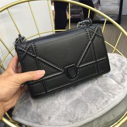 $enCountryForm.capitalKeyWord Australia - Elegant2019 Chain Renovate Fund Rivet Square Woman Shield Package Single Shoulder Messenger Small Bag