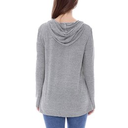 long sleeve modal tees Australia - Maternity Top Clothes Fashion Women Maternity Long Sleeve Tees Hoodie Nursing Sweatshirts Tops For Breastfeeding positiekleding