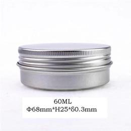 $enCountryForm.capitalKeyWord Australia - Wide mouth 50 60 70 80ml metal tea jar with airtight screw lid silver aluminum candle jar, cosmetic cream packaging jar free shipping