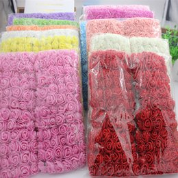 scrapbooking roses NZ - 144pcs 2cm Mini Foam Rose Artificial Flower Bouquet Multicolor Rose Wedding Flower Decoration Scrapbooking Fake Rose Flower