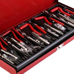 Durevole riparazione Discussione strumento 131pcs / set Helicoil Reinfilate riparazione dell'insieme del corredo Benzinaio Officina strumento di livello professionale Recoil Repair Tool Y200321 in Offerta