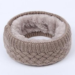 Cowl Snood Scarf Australia - Hot Women Men Fashion Female Winter Warm Scarf Solid Chunky Cable Knit Wool Snood Infinity Neck Warmer Cowl Collar Circle Scarf