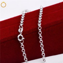 $enCountryForm.capitalKeyWord NZ - 3mm Round Rolo Cable Link Chain Necklace 925 Sterling Silver Classic Chain Fine Jewelry 3 Pieces