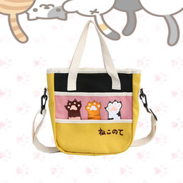 $enCountryForm.capitalKeyWord Australia - Neko Atsume women's handbag women funny cat pad canvas messenger bags cute shoulder Crossbody bag bolsa feminina