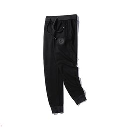 $enCountryForm.capitalKeyWord Australia - Fashion Designer Mens Pants Luxury Pants for Men with Pattern Drawstring Jogging Sweatpants Brand Trousers Clothing M-2XL Wholesale M01