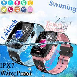 $enCountryForm.capitalKeyWord Australia - IP67 Anti Lost Kids GPS Child GPS Tracker Smart Phone Watch For Children Water Resistant Watch Phone Baby Swimming SeTracker